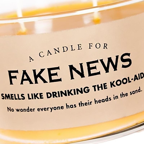 Fake News Candle