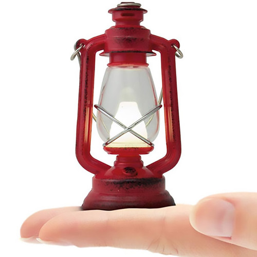 Antique Styled Red Lantern Camping  Light