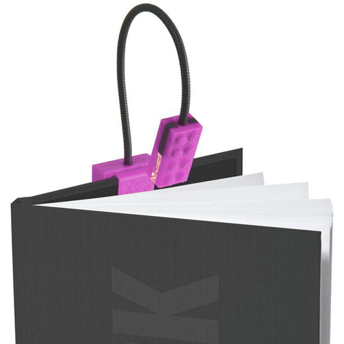 Blocky Book Light clips easily to your book