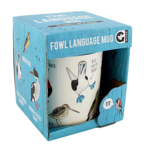 Fowl Language Mug - Bird Mug by Ginger Fox