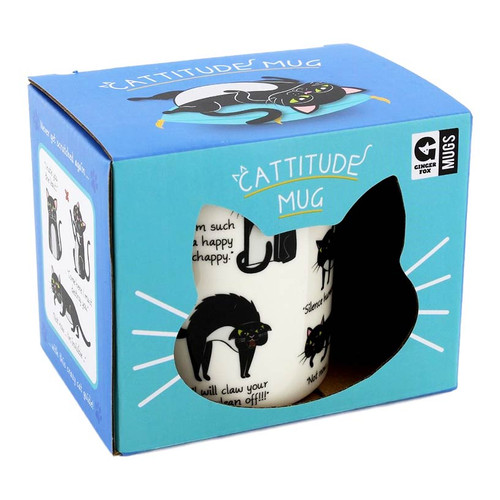 Cattitude Mug by Ginger Fox
