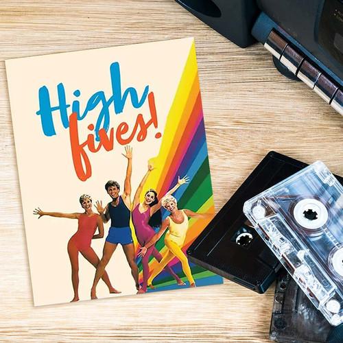 High Fives 80's Aerobics Greeting Card