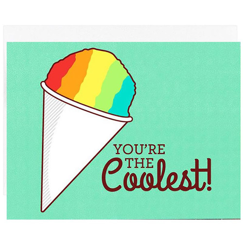 Pun You're the Coolest Snow Cone  Greeting Card