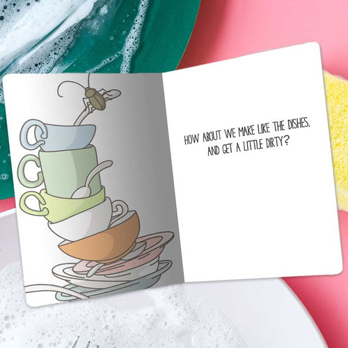 Don't Worry Dishes, Nobody Is Doing Me Either Funny Single Person Greeting Card