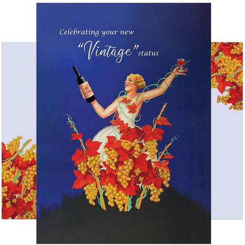 Celebrating Your New Vintage Status Birthday Card