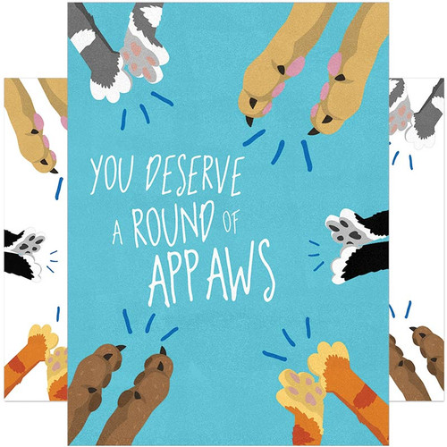 Cat Paws You Deserve A Round Of Appaws Congratulations Card