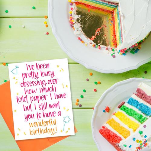 Quarantine Birthday Card