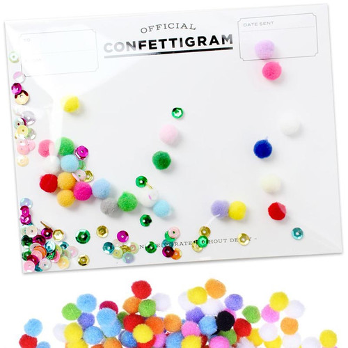 Official Confettigram Pom Poms Greeting Card