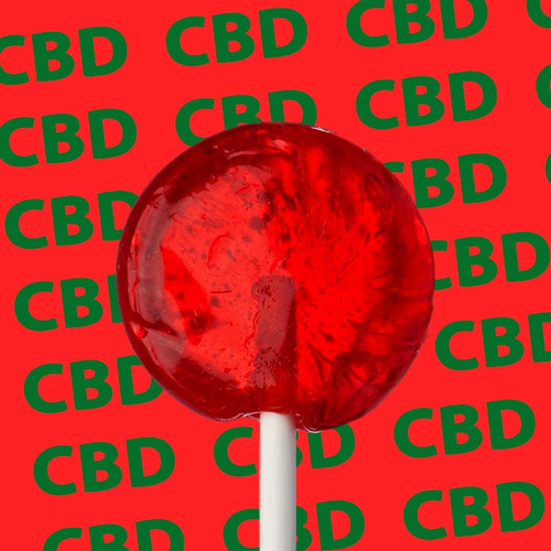 Strawberry CBD Lollipops