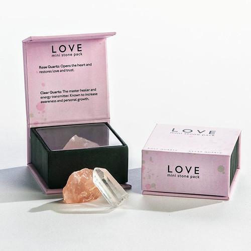 Love Mini Quartz Crystals Stone Pack