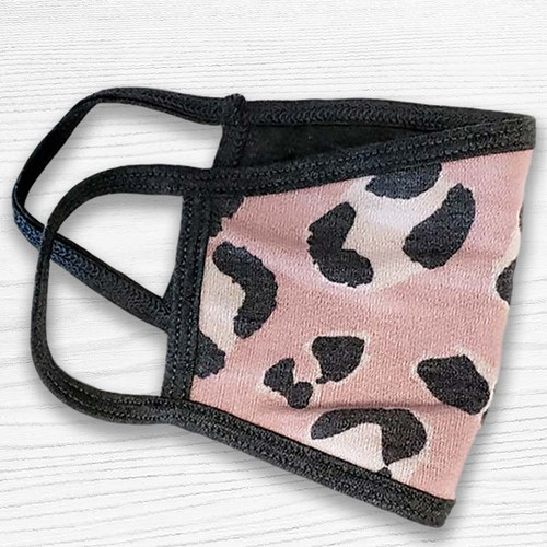 Soft Touch Pretty In Pink Leopard Face Mask - Retro Punk