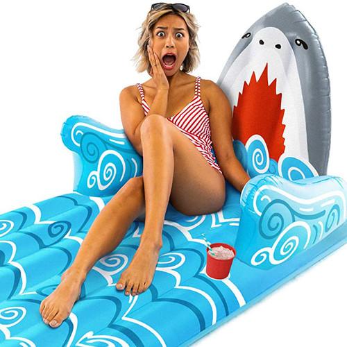 Giant Shark Lounger Pool Float