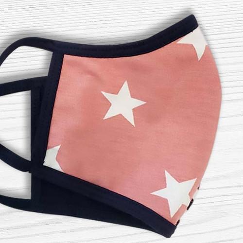Cloth Face Mask - Pretty Pastel Stars + Stripes Face Mask