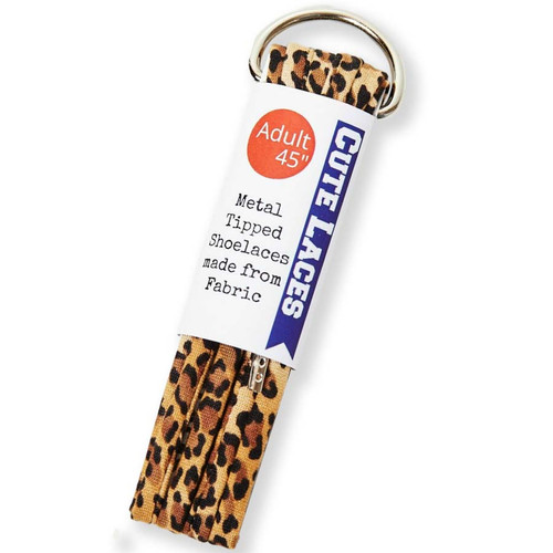 Leopard Print Shoelaces by a small business