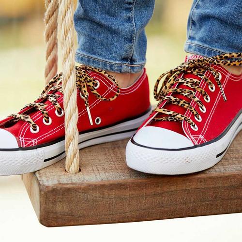 Retro Leopard Print Shoelaces
