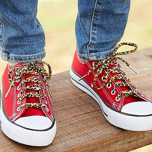 Fun Leopard Print Shoe Laces