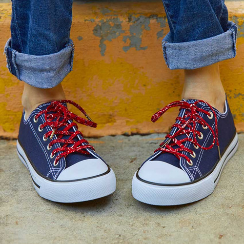 Retro Red Classic Bandana Shoelaces