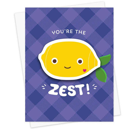 You're The Zest Sticker Friendship Card