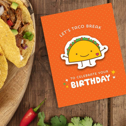Taco Pun Birthday Card
