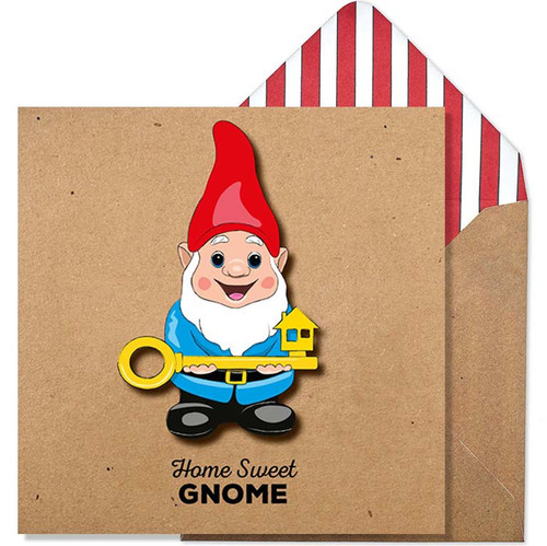 Home Sweet Gnome Greeting Card - New Home Celebration