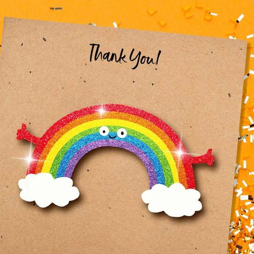 Glittery 3D Rainbow Greeting Card