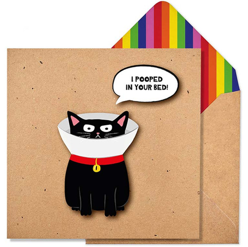 I Pooped In Your Bed Greeting Card by Tache