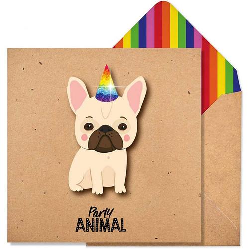 Fun Party Animal Glitter Birthday Card by Tache