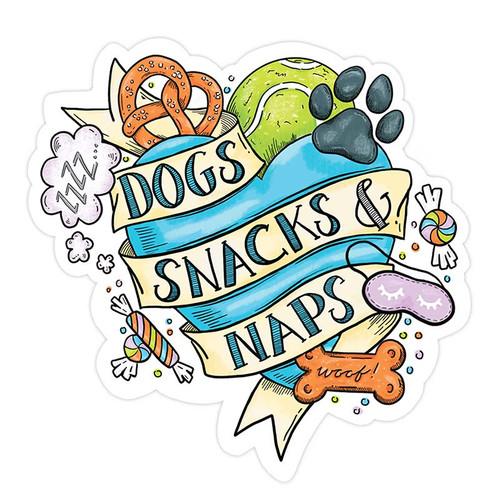 Tattoo Dogs, Snacks + Naps Sticker
