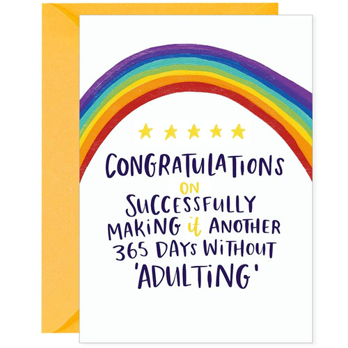 Funny Birthday Card  for not acting like an adult!
