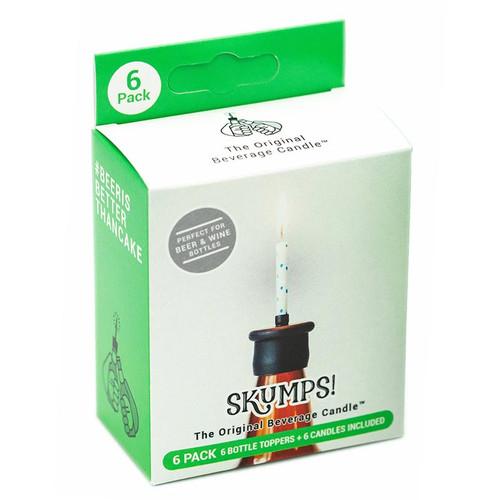 6-Pack of Skumps Beer + Wine Bottle Topper