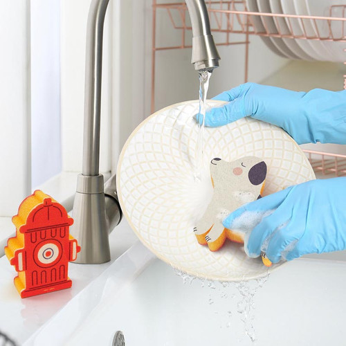 Kitchen Sponge Set Dirty Dog + Fire Hydrant