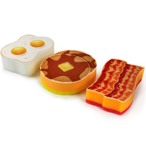 Breakfast Egg, Bacon and Pancakes  Kitchen Scrub Sponges