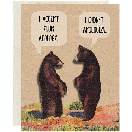 Oso Bean  Apology Card