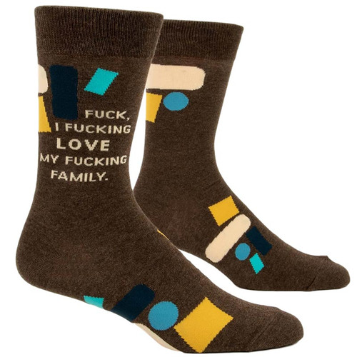 I Love My F*cking Family Men's Socks