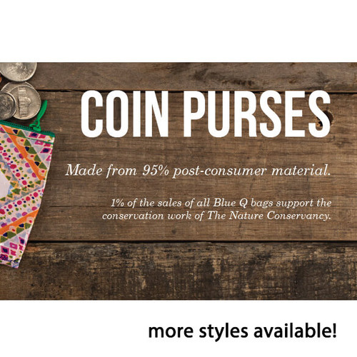 WEED MONEY COIN PURSE- RECYCLED MATERIAL