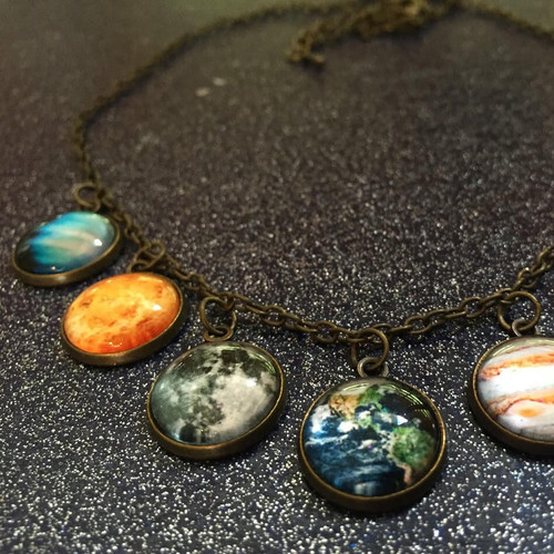 Solar System Necklace