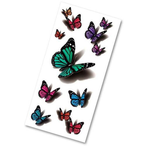 Temporary 3D Butterfly Tattoos