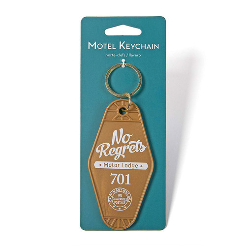 No Regrets Vintage Motel Key Ring