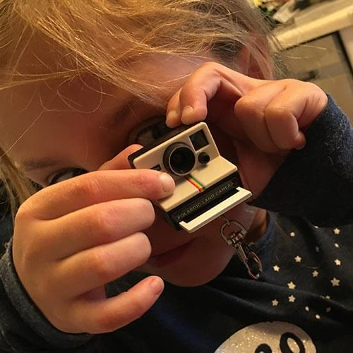Tiny Polaroid Camera Keychain
