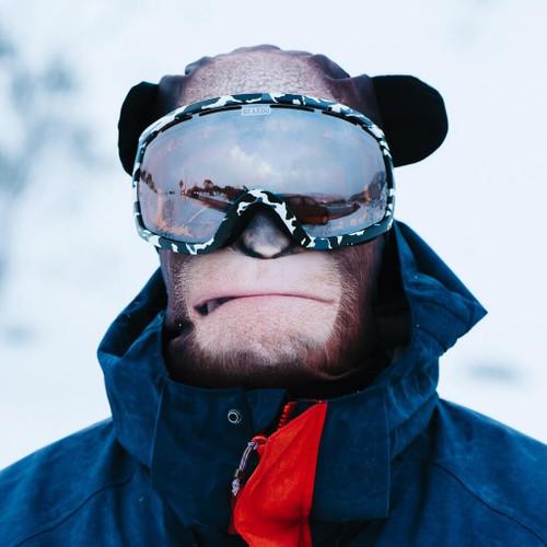 CONTEMPLATING ORANGUTAN WINTER SNOW MASK