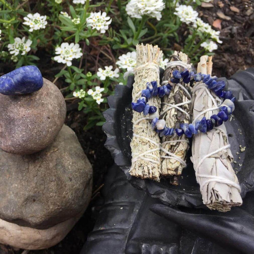 Genuine Lapis Lazuli Truth Crystal Bracelet