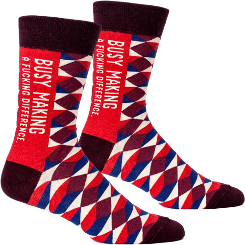Busy Making A F*cking Difference Men's Socks
