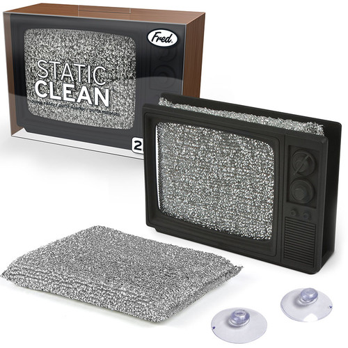 Static Clean Retro TV Sponge Holder