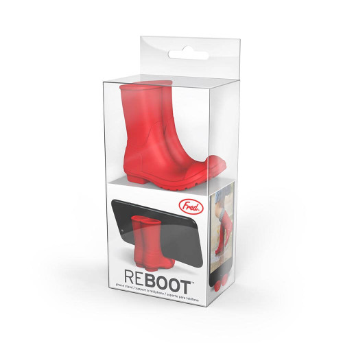 Reboot Red Wellies Phone Stand