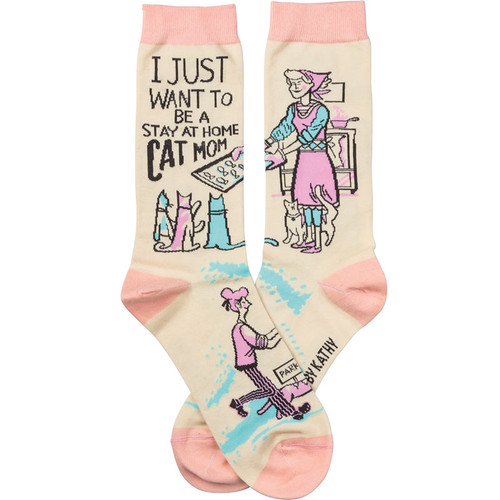 I Just Want To Be A Stay At Home Cat Mom Socks