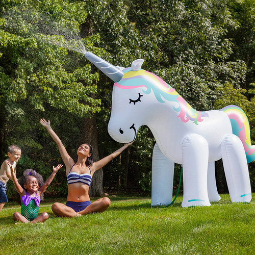 Pastel colors are no longer available, As seen on Rachel Ray with Katie Linendoll!  Ginormous Unicorn Yard Sprinkler