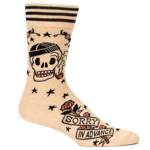 Sorry In Advance Blue Q Men's Socks