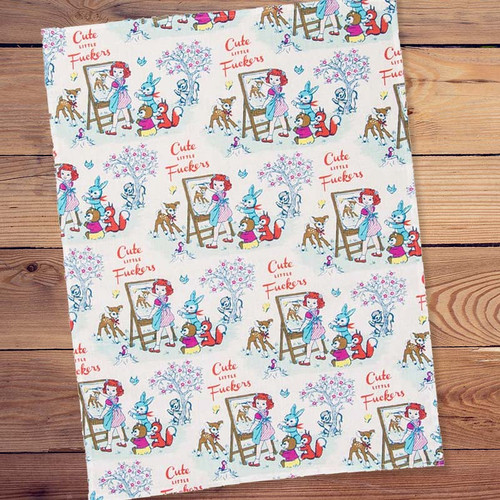 Blue Q Cute Little F*ckers Woodland Creature Dish Towel