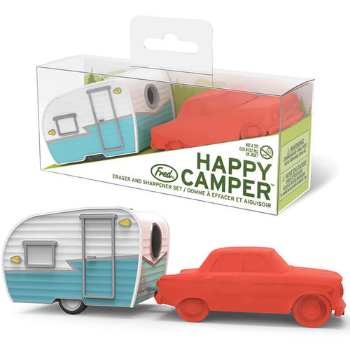 Happy Camper Pencil Sharpener + Eraser
