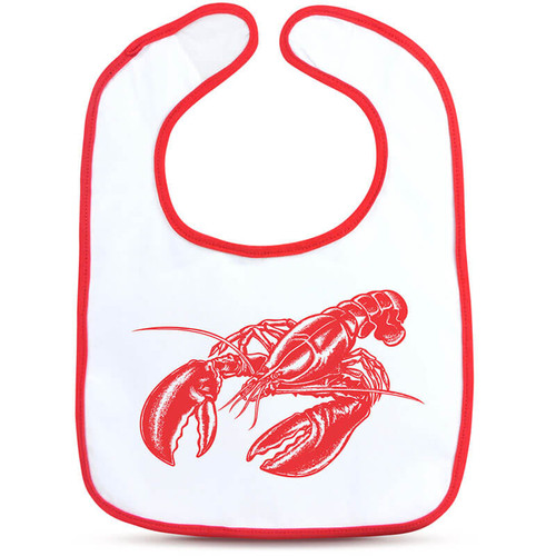 Dressed To Spill Lobster Bib + Teether Set